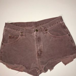 Vintage Wrangler cut off distressed shorts 32
